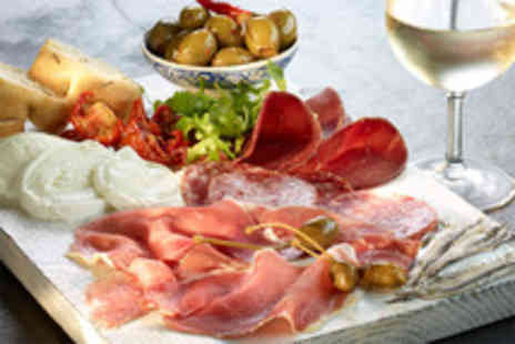 Little Pizza Kitchen - Italian meal for 2 inc 4 antipasti dishes garlic bread & bottle of Cava - Save 58%