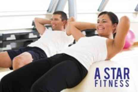 A Star Fitness - Personal Training Three Sessions For One - Save 65%