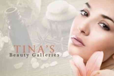 Tinas Beauty Galleries - Facial With Eyebrow Wax and Tint and Eyelash Tint Plus Waxing - Save 74%