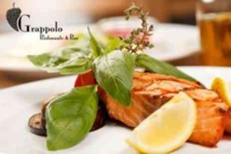 Grappolo Restaurant - Italian Three Course Meal With Wine For Two - Save 22%