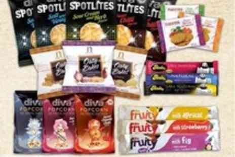 Mood Food Company - Healthy Snack Pack with 'Be Fruity' Bars, Nairns Oaty Biscuits, Popcorn and more - Save 50%