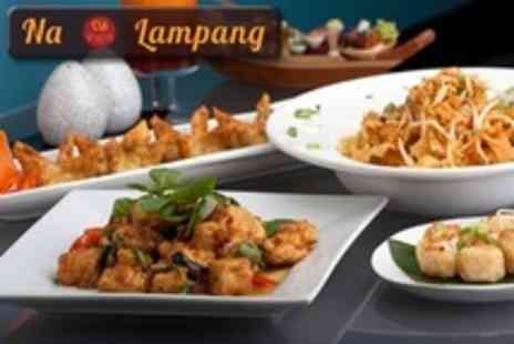 Na Lampang - Two Course Thai Meal With Rice For Two - Save 53%