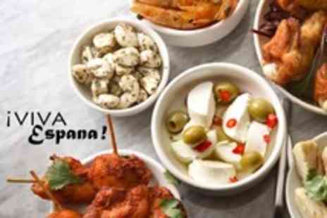 Viva Espana - Six Tapas Dishes for Two with Sangria and Dessert Each - Save 66%