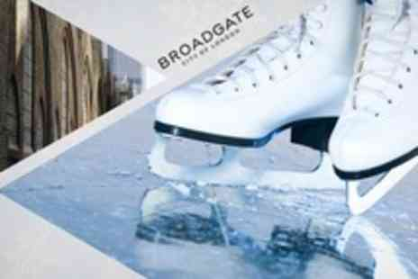 Broadgate Ice Rink - Ice Skating For Two With Skate Hire - Save 50%