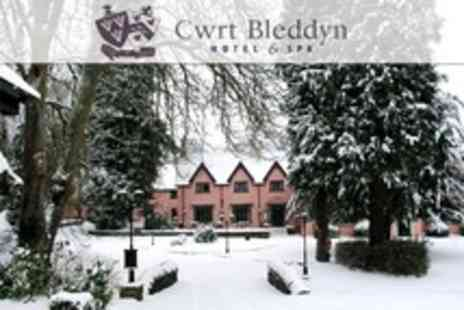 Cwrt Bleddyn Hotel - In Monmouthshire One Night Stay For Two With Three Course Meal and Spa Access - Save 51%