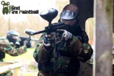 Blind Fire Paintball - Paintballing For Two Plus Lunch and 100 Paintballs Each - Save 38%