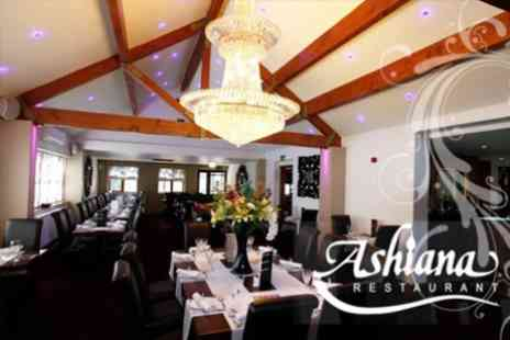 Ashiana Restaurant - Fine Dining Three Course Indian Cuisine For Two - Save 61%
