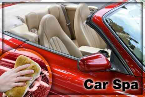 Car Spa - £10 for a Valet Service including Pressure Steam Wash, Hand Liquid Wax and Vacuuming of Upholstery and Carpets - Save 63%