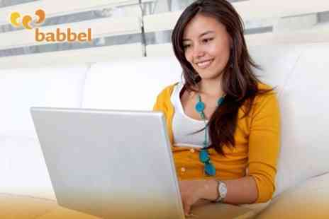 Babbel.com - Six MonthOnline Language Course in Choice of Seven Languages for £8.95 - Save 70%