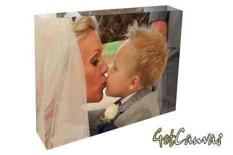 GetCanvas - 20cm x 15cm Custom Photo Block Show Off Your Photos in Style - Save 65%