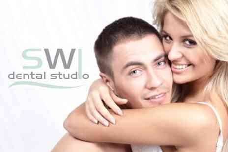SW1 Dental Studio - Laser Teeth Whitening and Air Flow Scale and Polish - Save 68%