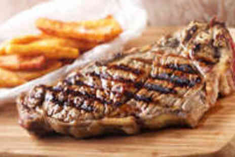 The Grill on the hill - Steak Meal for Two with Sides and a Glass of Wine - Save 62%