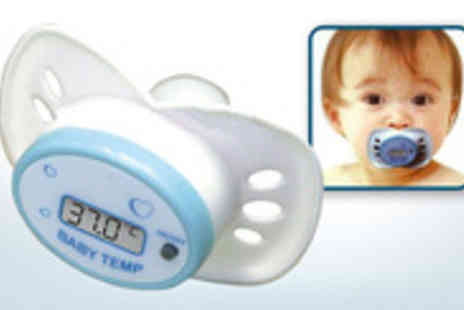 Mega Deals UK - Digital thermometer pacifier Check your childs temperature as they happily suck away - Save 70%