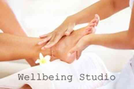 Wellbeing Studio - Pedicure With Hard Skin and Corn Removal, Nail File and Light Foot Massage - Save 60%