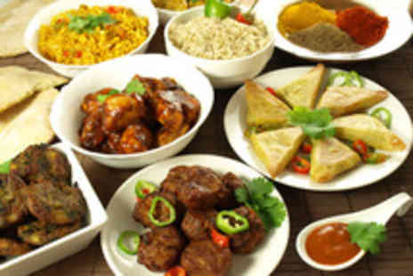 Curry Leaf - Two course Indian meal for 2 inc starters thali dishes & wine - Save 58%