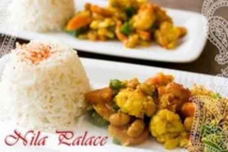 Nila Palace - Three Course Indian Meal With Coffee For Two - Save 20%