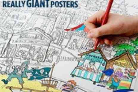 Really Giant Posters - Giant Colouring in Posters Including Fairy House, Medieval Castle and more - Save 50%