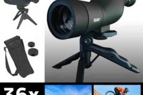 Vivitar - Ultimate Spotting Scope - 36x Zoom - 50mm Lens + FREE Tripod and Carry Case! - Save 70%