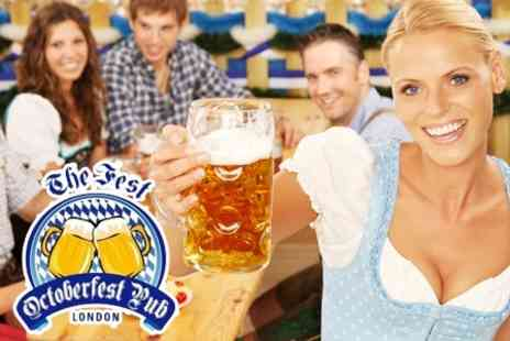 Octoberfest Pub - Oktoberfest Platter With Litre of Beer Each For Four  - Save 63%