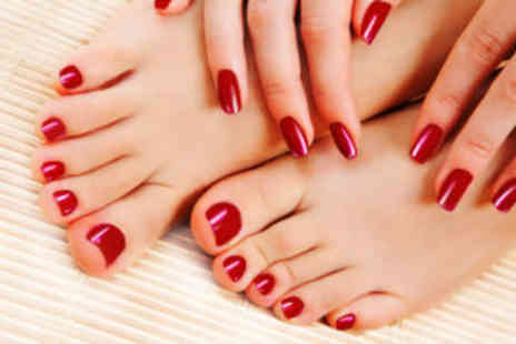 Alana Hair and Beauty - Trendy Nail Wraps and mini pedicure  - Save 70%