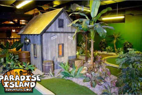 Paradise Island Adventure Golf - £5 for two people to play 18 holes of fun-filled adventure golf - Save 64%