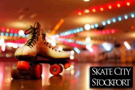 Skate City - Four Person Ticket for Roller Skating - Save 75%