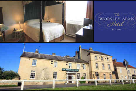 The Worsley Arms Hotel - £99 for two to spend two nights at The Worsley Arms Hotel in York, worth up to £305 - includes breakfast and a bottle of wine on arrival! - Save 68%