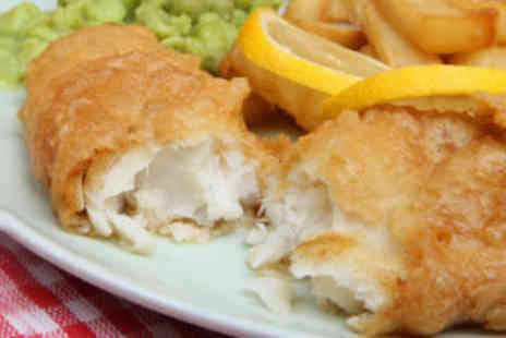 Cafe Ocho - Fish and Chips meal for two - Save 60%