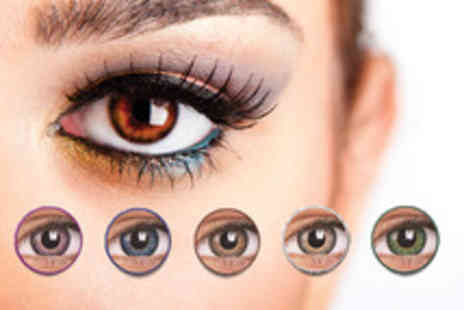 DVA Beautique - Pair of 90 day coloured contact lenses choose from 5 colours - Save 55%