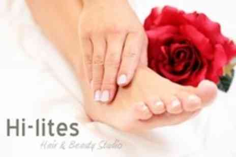 Hi Lites - Deluxe Manicure and Pedicure With Facial - Save 63%
