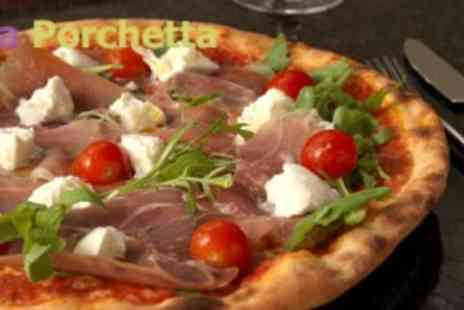 La Porchetta - Claim a Lunchtime Takeaway 9 Inch Pizza with a soft drink for just £4.95 at La Porchetta in Camden - Save 50%