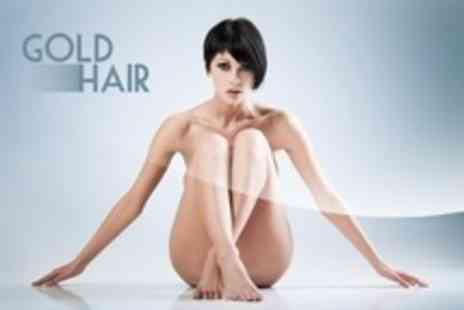 Gold Hair - Hollywood or Brazilian Wax Plus Underarm Wax - Save 50%