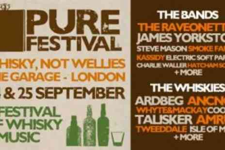 The Garage (Highbury) - Single Day Entry For Two Plus 8 Sample Whisky Drink Tokens Each at the Pure Music and Whisky Festival - Save 40%