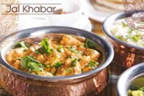 Jal Khabar - Two Course Indian Meal With Rice or Naan For Two - Save 51%