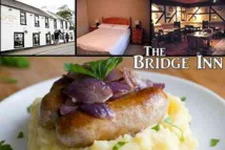 The Bridge Inn - Three Course Pub Meal For Two With Overnight Stay and Breakfast - Save 57%