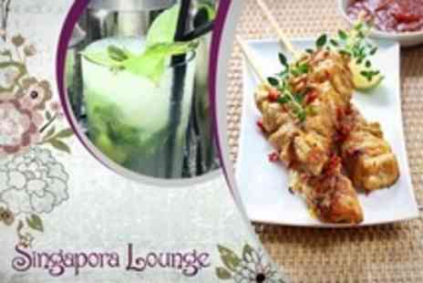 Singapora Lounge - Asian Platter Plus Cocktail Each For Two - Save 55%