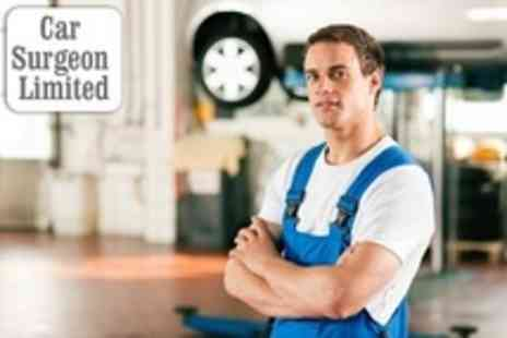 Car Surgeon - 54 Point Car Service With Oil and Filter Change Plus MOT and Diagnostic - Save 50%