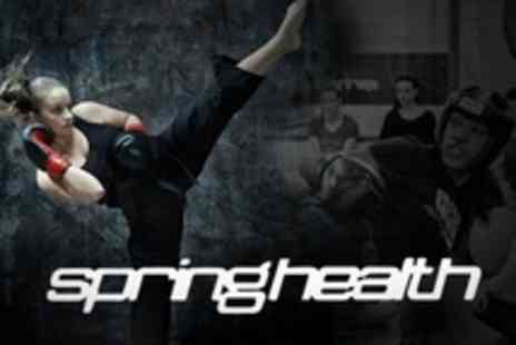 Springhealth Kickboxing - Five Kickboxing Classes, Six Week Beginner Course or Personal Training Session - Save 60%