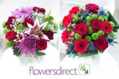 Flowers Direct - Choice of Valentine Flower Bouquets - Save 50%