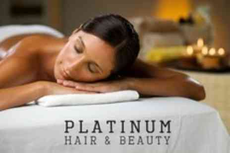 Platinum Hair and Beauty - Full Body Aromatherapy Massage Plus Gel Manicure or Indian Head Massage - Save 56%