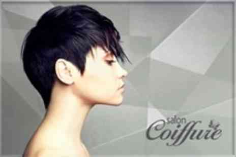 Salon Coiffure - Full Head Highlights or Colour With Steam Pod Blow Dry - Save 66%
