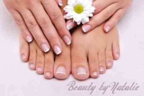 Beauty by Natalie - Manicure and Pedicure With Hand and Foot Massage, Plus Eyebrow Shape - Save 50%