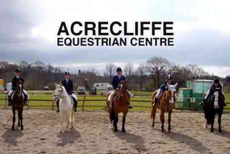 Acrecliffe Equestrian Centre - Horse Riding Lesson - Save 55%