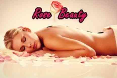 Rose Beauty - One Hour Hot Stone Full Body Massage - Save 67%