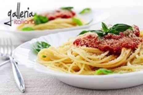 Galleria Italiana - Two Course Pizza or Pasta Meal For Two - Save 55%