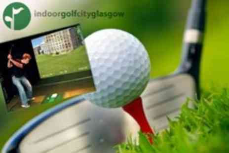 Indoor Golf City - Xscape Indoor Golf Simulator Experience and Pizza For Two - Save 62%