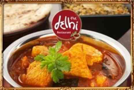 The Delhi Restaurant Solihull - Three Course Indian Meal For Two With Rice and Sides - Save 61%