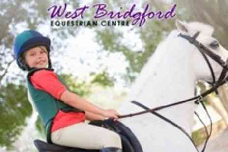 West Bridgford Equestrian Centre - Horse Riding Pony Party For Five - Save 65%