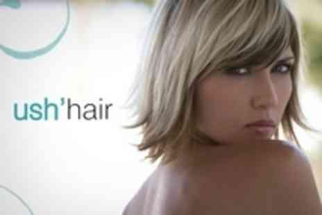 Ush'Hair - Cut and Blow Dry Plus Half Head Highlights - Save 57%