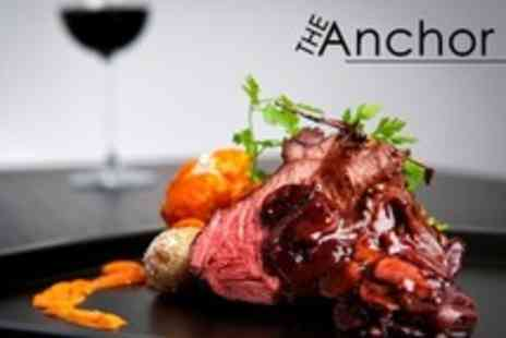 The Anchor - Steak Meal With Wine and Coffee For Two - Save 54%